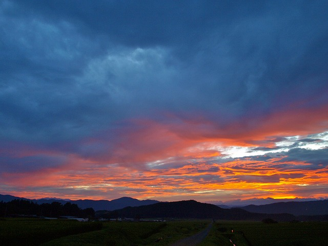20140821見事な夕陽 (16)