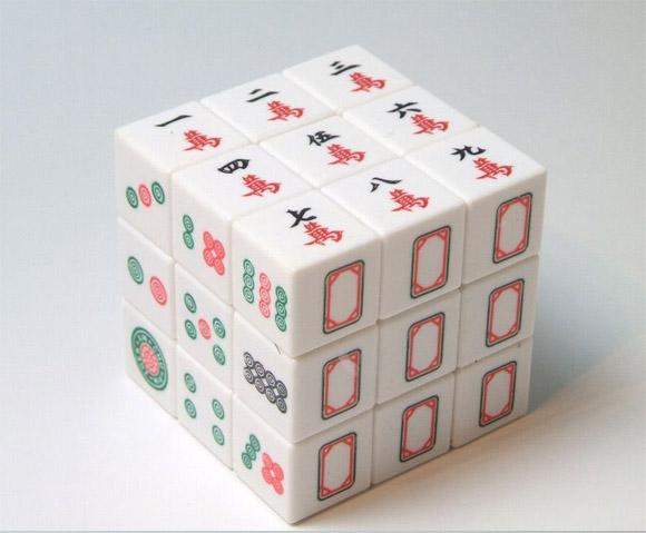 麻雀牌ルービックキューブ