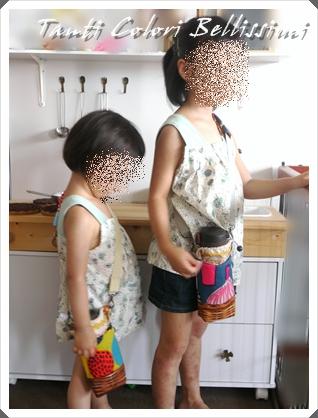 水筒ホルダーとコップ袋