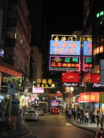 香港夜の看板-1