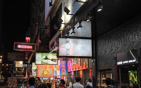 香港夜の看板-2
