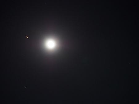 月と火星大接近