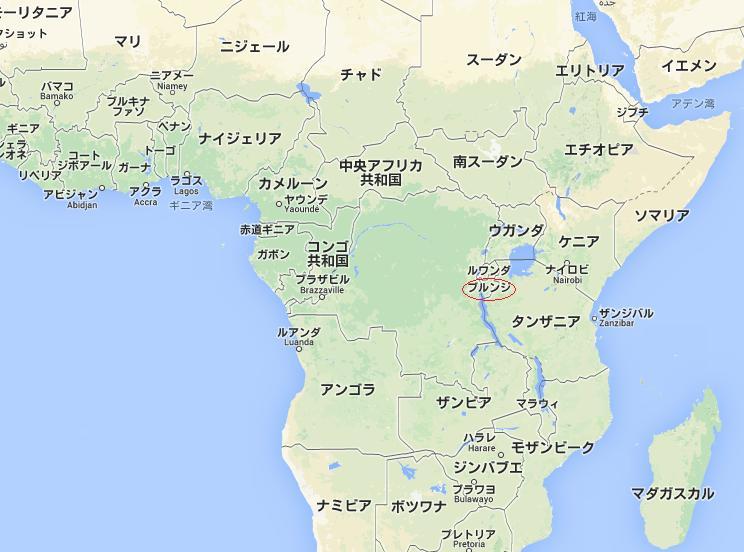 ブルンジ 地図