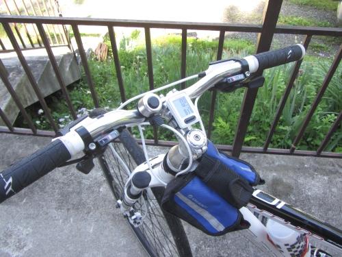 バイクに取り付けしたスピードメーター