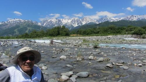 白馬まめったクラブウォーキングデー、その2 松川からの白馬連峰