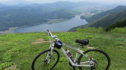 26日小熊山バイクランパラグライダー飛び出し地点1278m