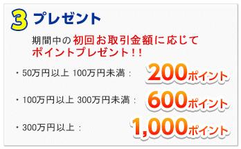 新生銀行の2週間満期預金キャンペーンでプレゼントされるポイント数