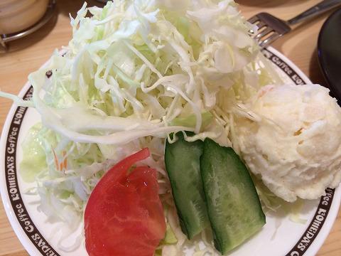コメダ珈琲のサラダ