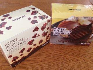sロイスのポップコーンチョコとポテチチョコ