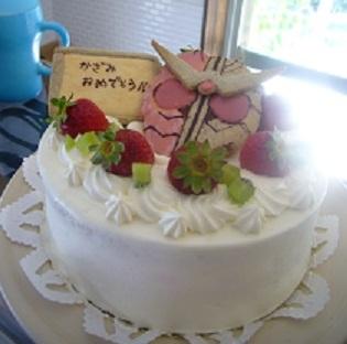 かざみ君の仮面ライダーケーキ