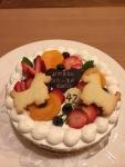 佐竹さんのバースデーケーキ