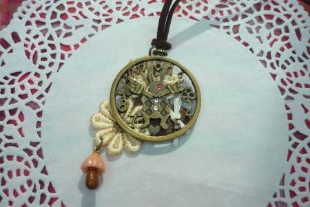 うさぎ時計ネックレス