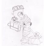 豆蔵売(絵本家賀御伽)