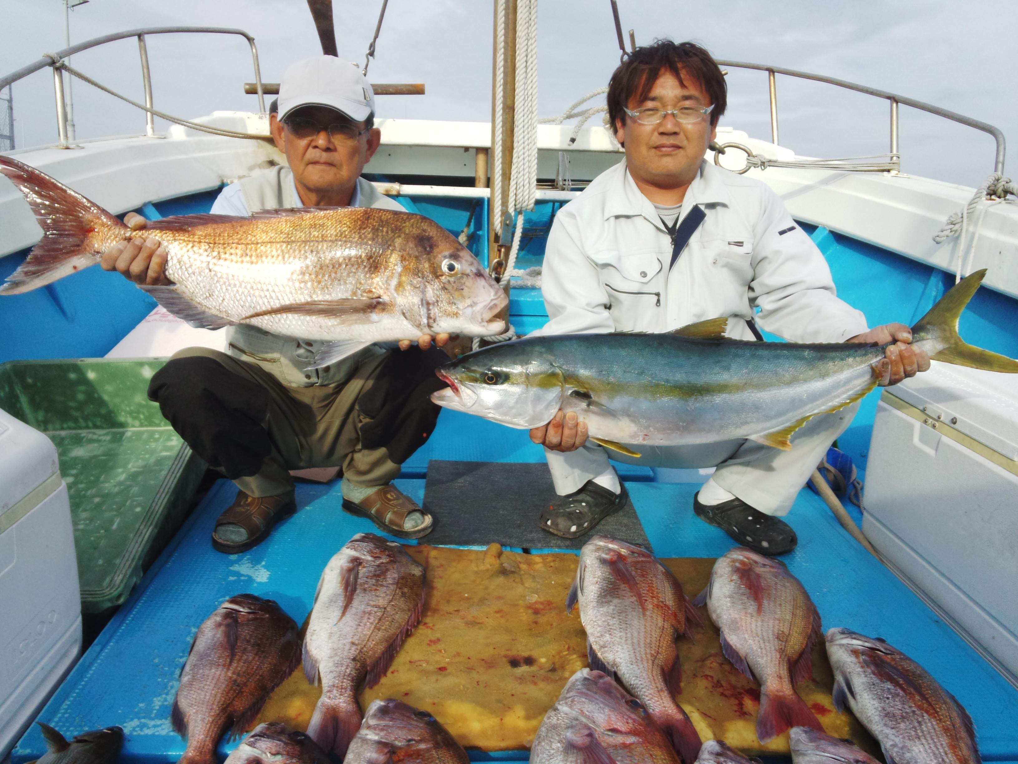 140510釣果(ヒラマサ、タイ)