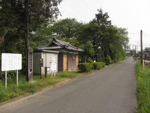 北町の地蔵堂と旧東海道