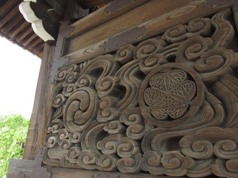 浄泉坊山門の三ツ葉葵