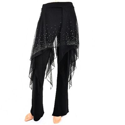 シースルースカート付きダンスパンツ