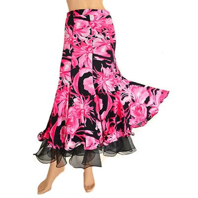 大きなお花柄スカート