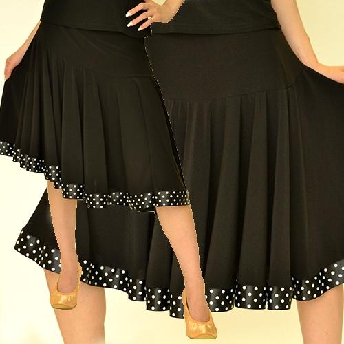 裾水玉パイプングスカート