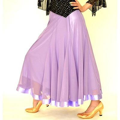 裾サテンテープ付きスカート