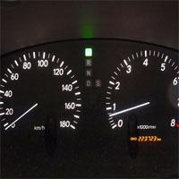 車のスピードメーター