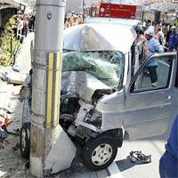 てんかんで事故を起こした車