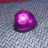 紫の回転灯