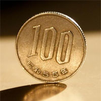 立ててある100円玉