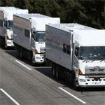 自動制御で間隔を取るトラック