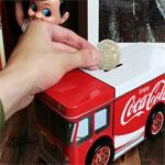 トラックの貯金箱