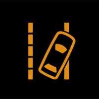 車線逸脱の警告灯