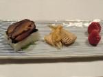 押し寿司、筍酢味噌かけ、苺