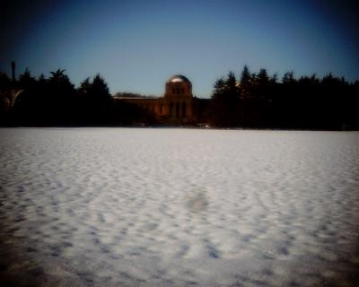 雪野原の明治神宮絵画館前:Entry