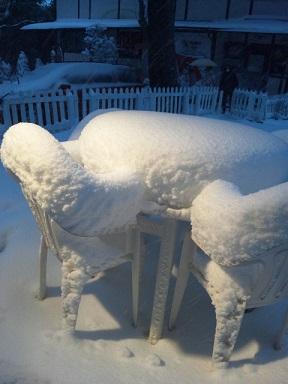 雪のパンケーキ