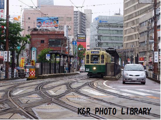 5月12日長崎の路面電車