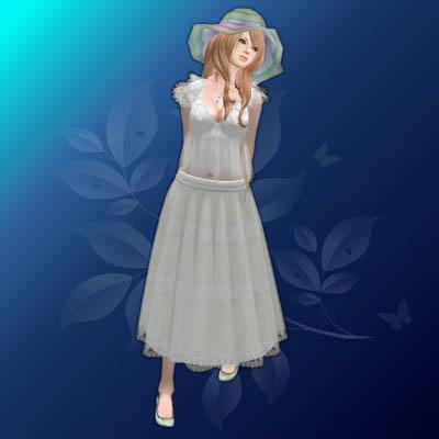 _aF_ Retro-tic blouse Chiffon skirt (GIFT)