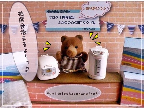 ありがとう♪「ブログ1周年&20000HIT☆記念プレ」 ~抽選会~1