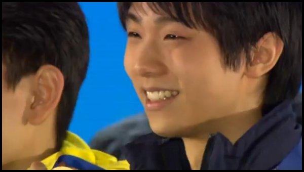 羽生_表彰式の笑顔