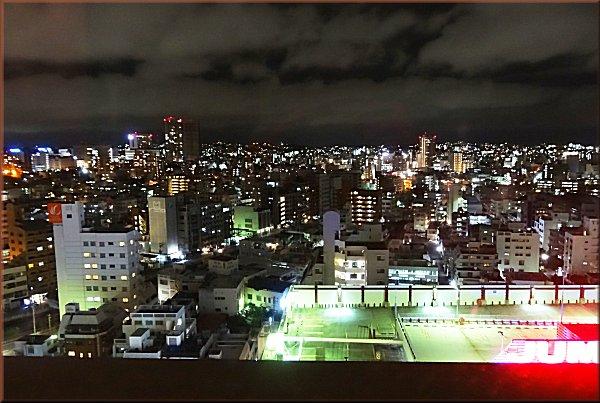 沖縄かりゆしアーバンリゾート・ナハの夜景