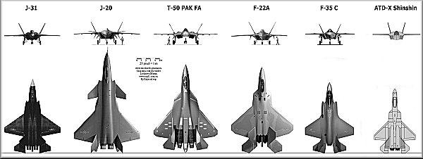 第5世代戦闘機の外形