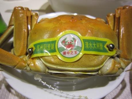 寧波で食べる上海カニ