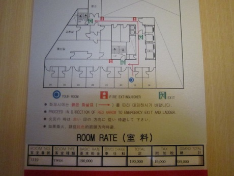 部屋の位置
