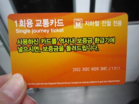 地下鉄の切符
