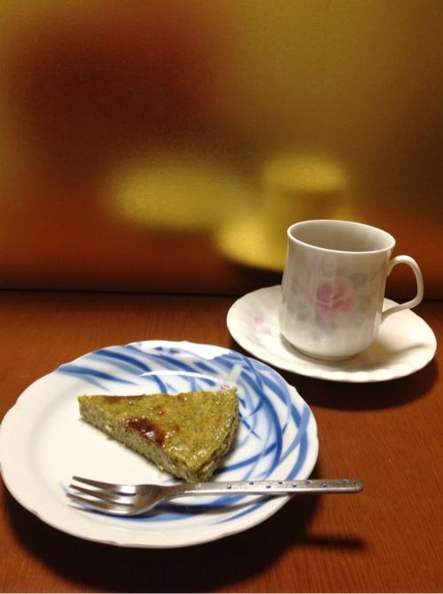 烏龍茶チーズケーキ1