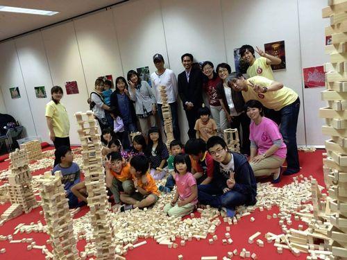宮城県仙台市日本伝統文化昔の遊び積み木国際交流イベント催し