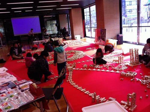 宮城県仙台市日本伝統文化昔の遊び積み木国際交流出張イベント催し