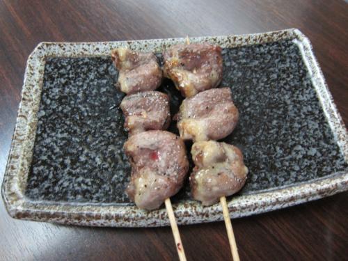 鶏ハツ ジャンボ炭焼き