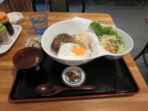 ロコモコ丼セット