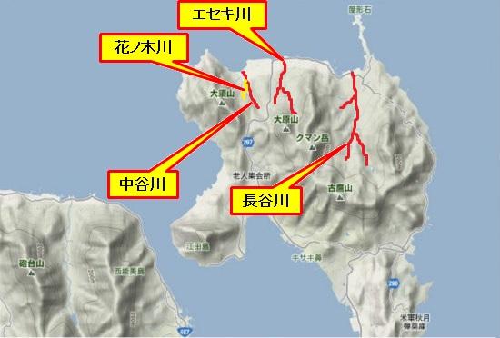 1)江田島町北部・河川名
