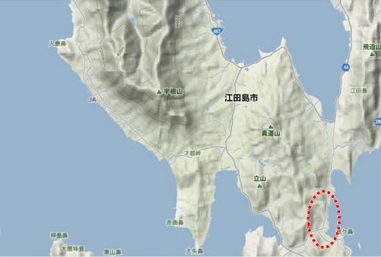 4)能美町・沖美町南部 柿浦農地農道